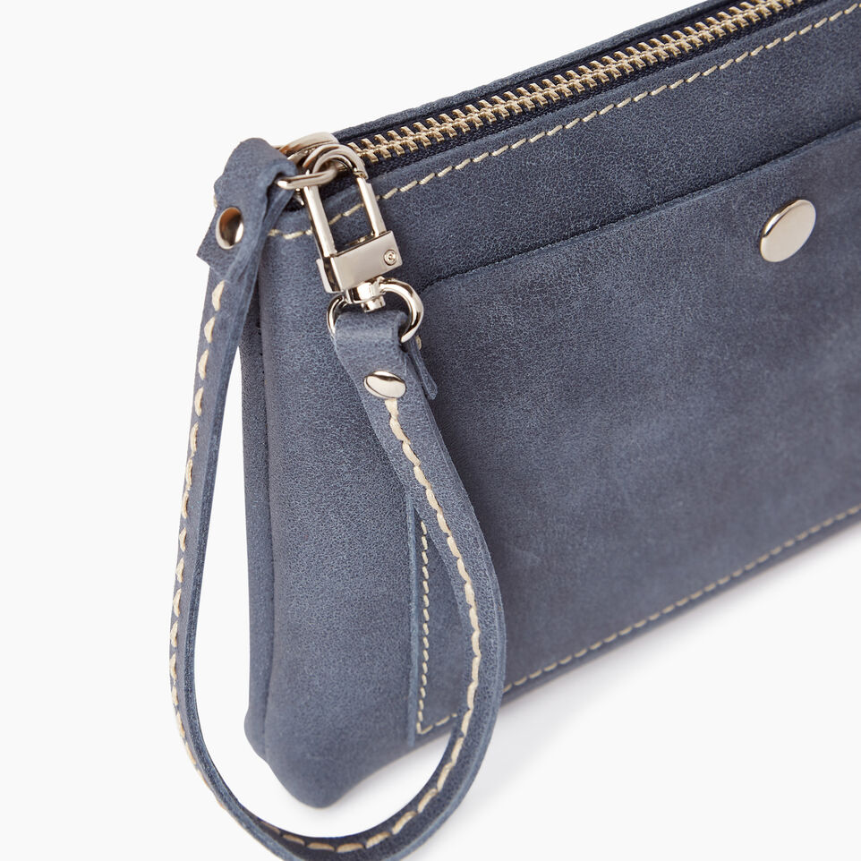 Roots-Leather Categories-Riverdale Pouch-Navy-D