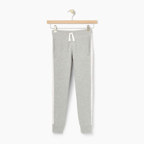 Roots-Clearance Kids-Girls Sportsmas Sweatpant-Grey Mix-A