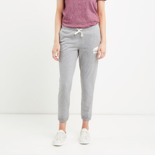 Roots-Women Sweats-Mabel Lake Ankle Sweatpant-Salt & Pepper-A