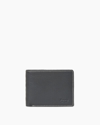 Roots-Leather Wallets-Mens Slimfold Sideflap Cervino-Grey-A