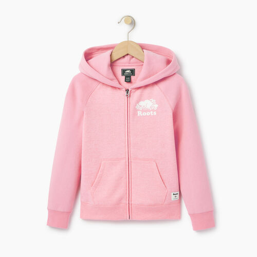 Roots-Clearance Kids-Girls Original Full Zip Hoody-Pastl Lavender Pper-A
