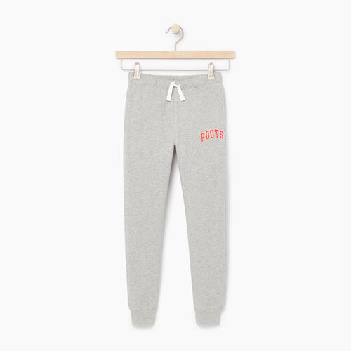 Roots-Kids Categories-Girls Roots Varsity Sweatpant-Grey Mix-A