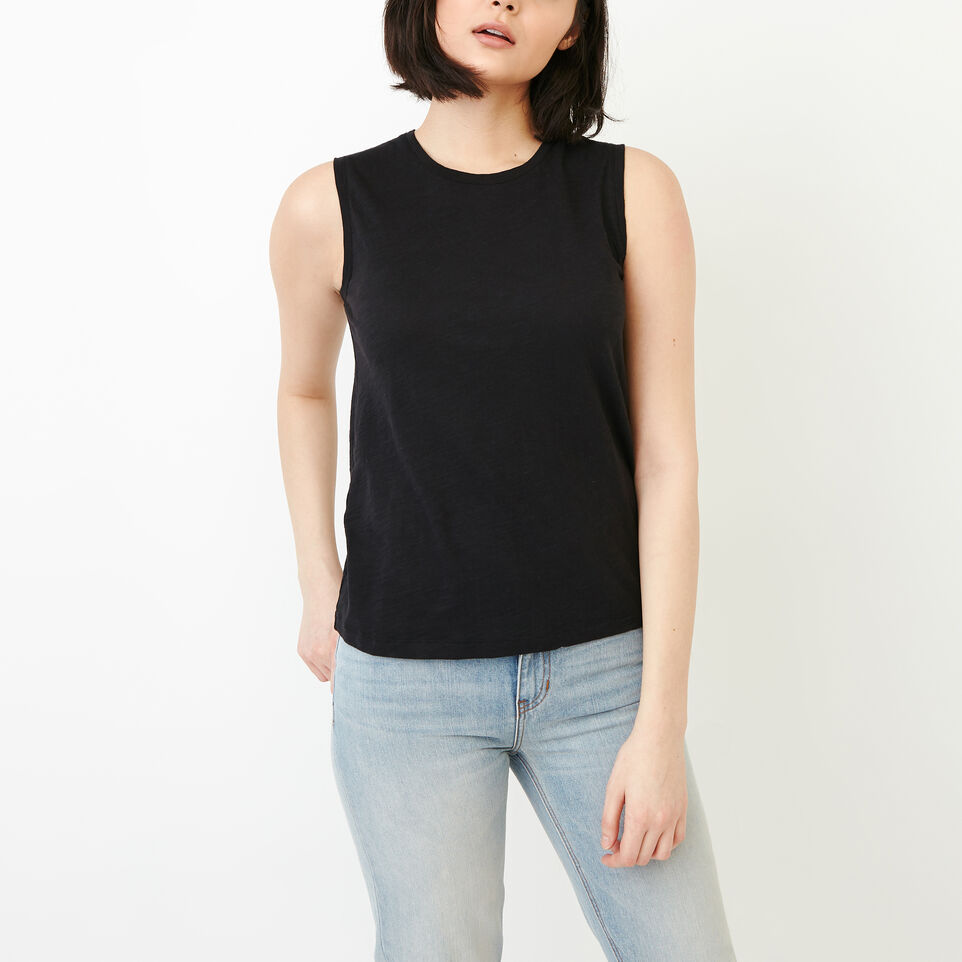 Roots-Women Our Favourite New Arrivals-Lorne Muscle Tank Top-Black-A