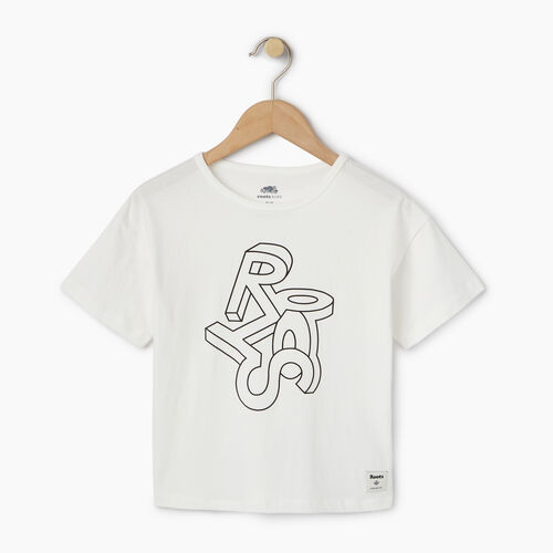 Roots-Kids Our Favourite New Arrivals-Girls Esher T-shirt-Cloudy White-A