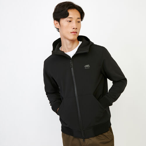 Roots-Men Outerwear-Glacier Softshell Jacket-Black-A