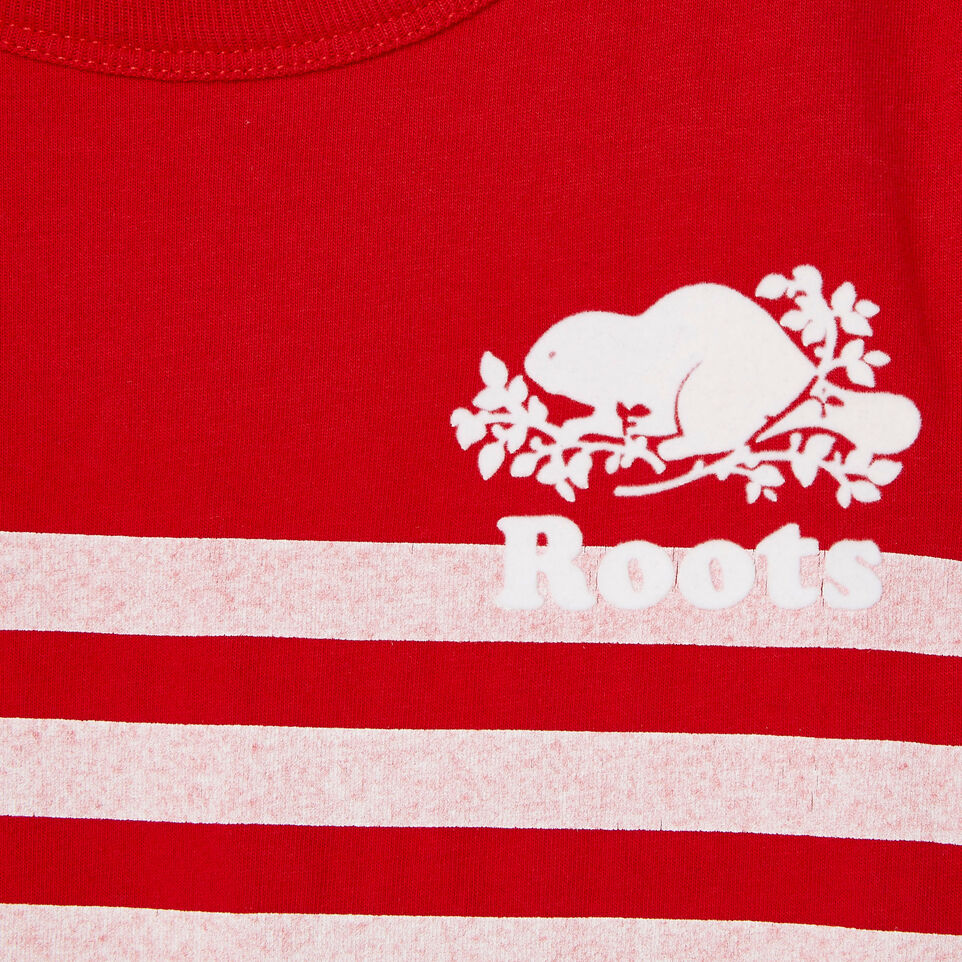 Roots-Kids Our Favourite New Arrivals-Toddler Cooper Beach Stripe T-shirt-Racing Red-D