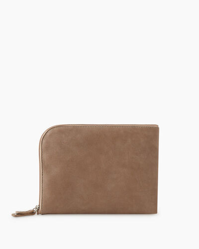 Roots-Leather New Arrivals-Travel Commuter Pouch Tribe-Sand-A