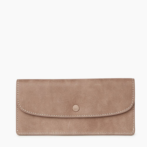 Roots-Women Categories-Riverdale Slim Wallet-Fawn-A