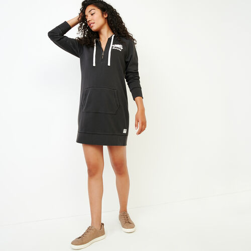 Roots-Women Our Favourite New Arrivals-Garment Dyed Dockside Dress-Charcoal-A