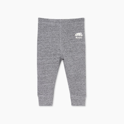 Roots-Kids Bottoms-Baby Cozy Fleece Legging-Salt & Pepper-A