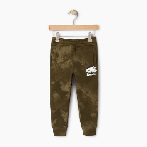 Roots-Clearance Kids-Toddler Cloud Nine Sweatpant-Winter Moss Green-A