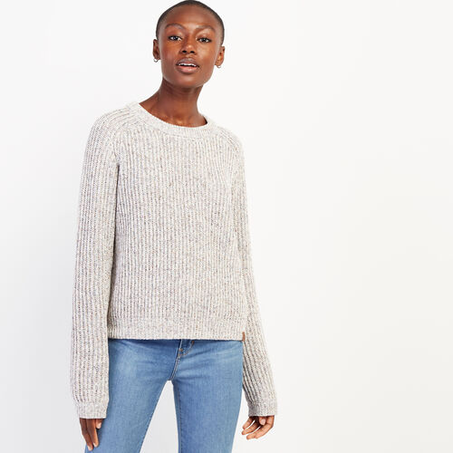 Roots-Women Sweaters & Cardigans-Woodstock Crew Neck Sweater-Multi-A