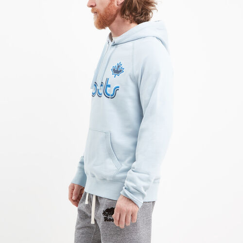 Roots-Winter Sale Men-Ribbon Terry Kanga Hoody-Celestial Blue-A