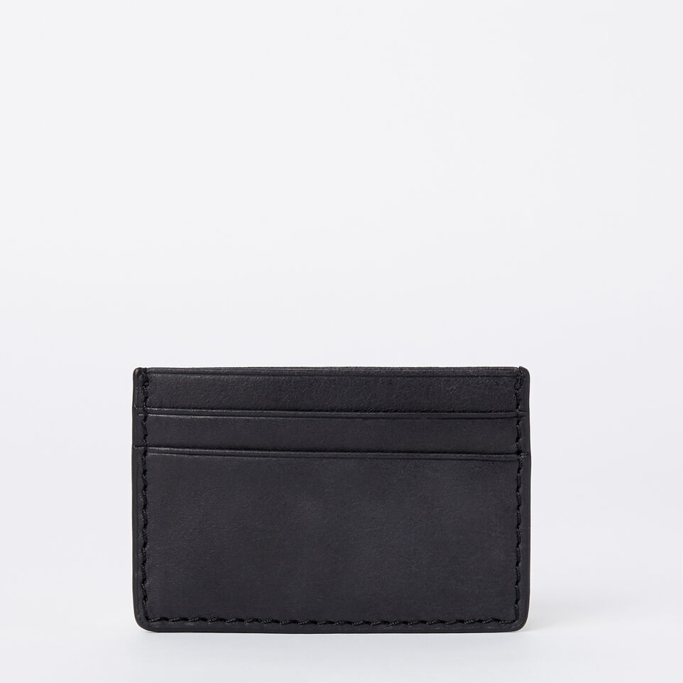 roots leather handcrafted by us mens wallets business card holder tribe jet black - Business Card Holder Wallet