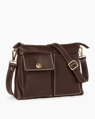 Roots-Leather Bestsellers-The Villager Cervino-Chocolate-A