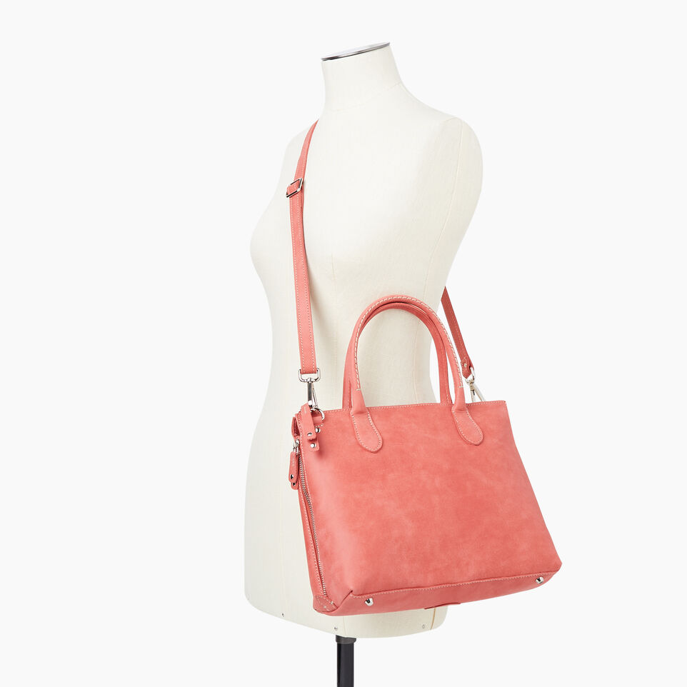 Roots-Women Leather-Arianna Bag Tribe-Coral-B