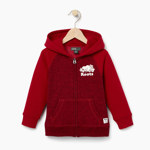 Roots-Kids Toddler Boys-Toddler Original Full Zip Hoody-Cabin Red Pepper-A