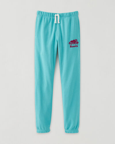 Roots-Sweats Girls-Girls Original Sweatpant-Blue Turquoise-A