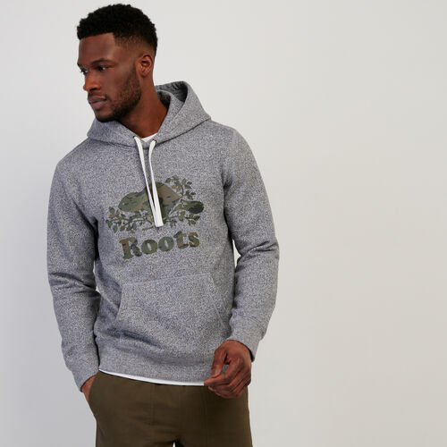 Roots-Men New Arrivals-Camo Cooper Beaver Kanga Hoody-Salt & Pepper-A