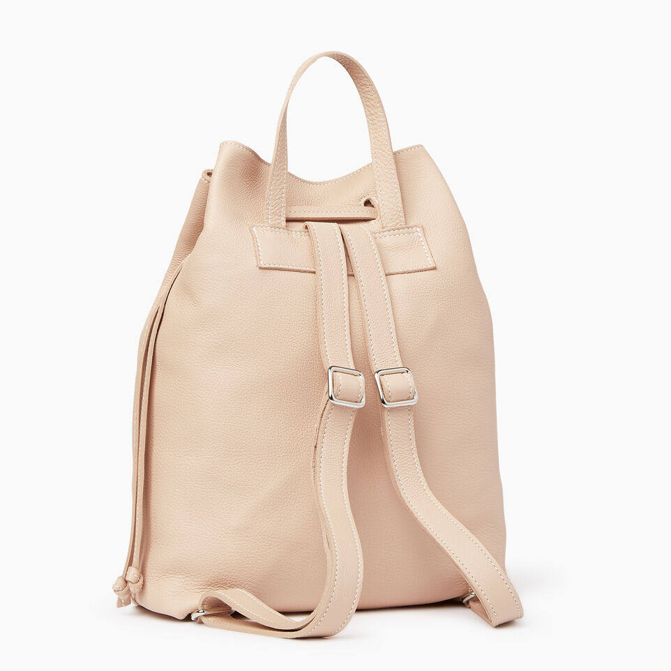 Roots-Leather Our Favourite New Arrivals-Sherbrooke Backpack-Pink Mist-C