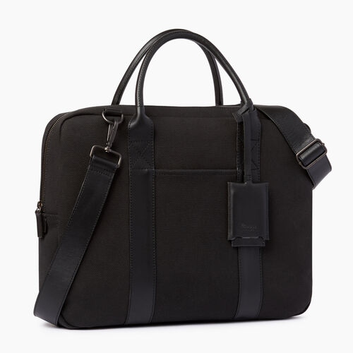 Roots-Men Our Favourite New Arrivals-Wellington Laptop Canvas-Black-A