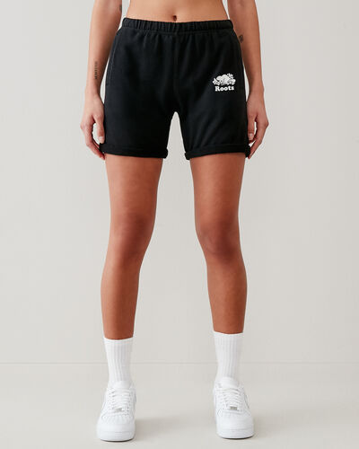 Roots-Shorts Women-Original Longer Sweatshort 8 In-Black-A