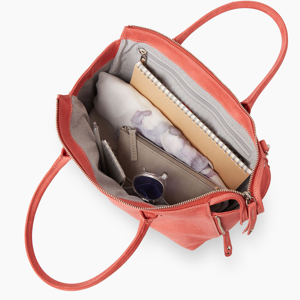 Roots-Women Leather-Arianna Bag Tribe-Coral-D