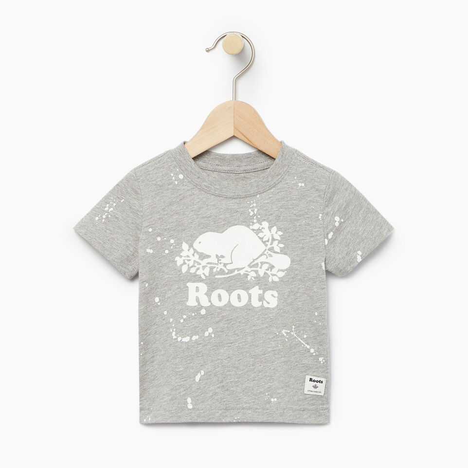 Roots-Kids Our Favourite New Arrivals-Baby Splatter Aop T-shirt-Grey Mix-A