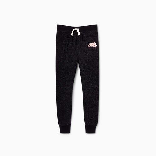 Roots-Kids Girls-Girls Cozy Fleece Sweatpant-Black Pepper-A