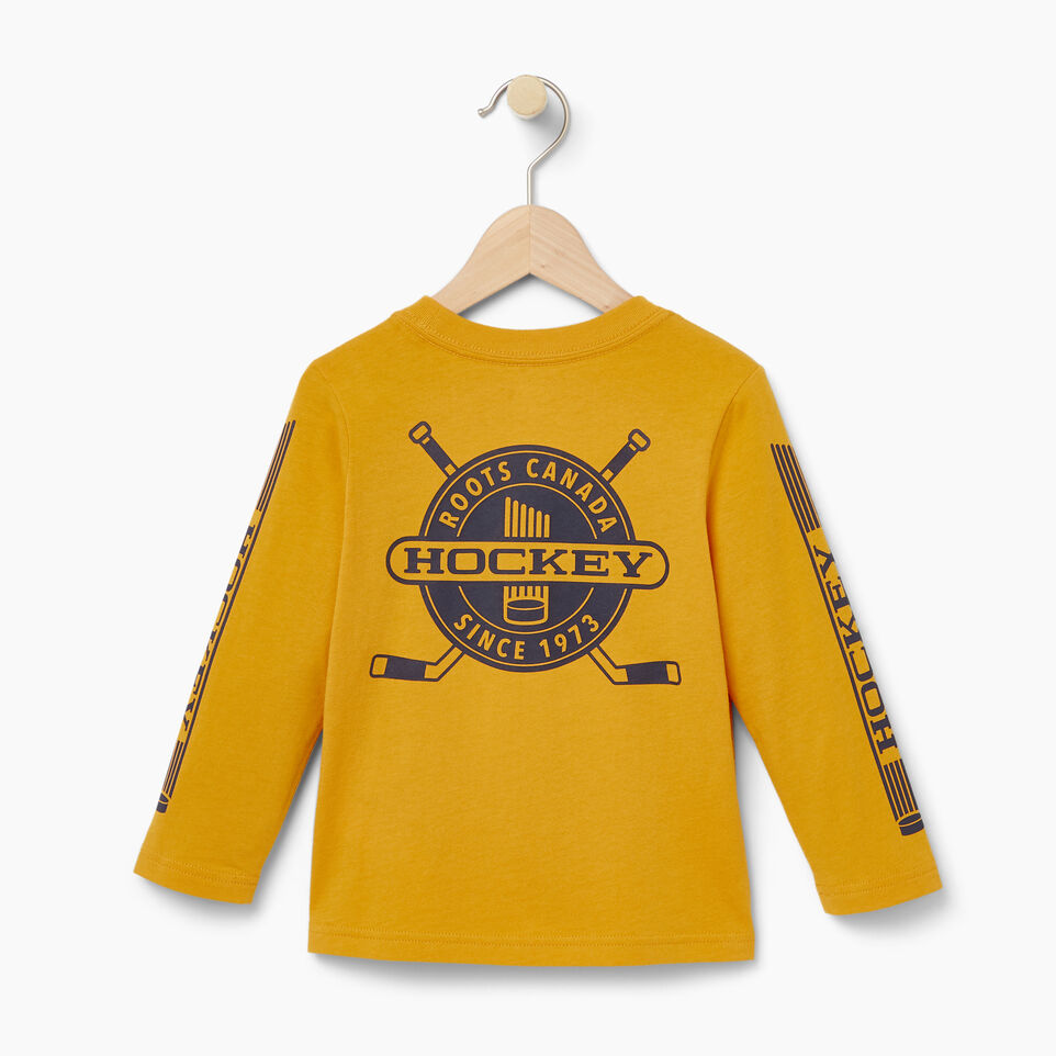 Roots-Kids Our Favourite New Arrivals-Toddler Hockey T-shirt-Squash Yellow-B
