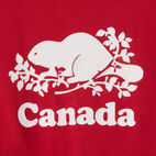 Roots-Kids Canada Collection-Toddler Canada Tie T-shirt-Sage Red-C