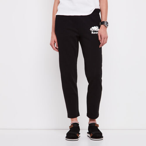 Roots-Women Sweatpants-Easy Ankle Sweatpant-Black-A