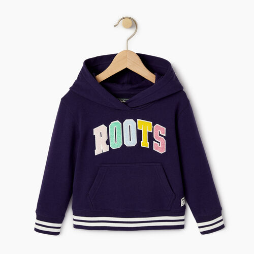 Roots-Kids Toddler Girls-Toddler Roots Varsity Kanga Hoody-Eclipse-A