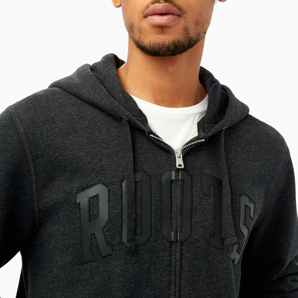 Roots-Winter Sale Men-Roots Arch Full Zip Hoody-Black Mix-E