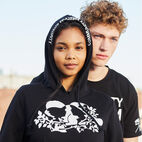 Roots-New For April Roots X Boy Meets Girl-Roots x Boy Meets Girl - Integrity Cropped Hoody-Black-F