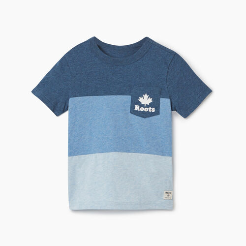 Roots-Kids New Arrivals-Toddler Colourblock T-Shirt-Blue Mix-A