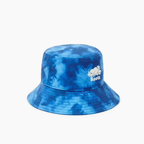 Roots-Kids Accessories-Toddler Tie Dye Bucket Hat-Blue-A