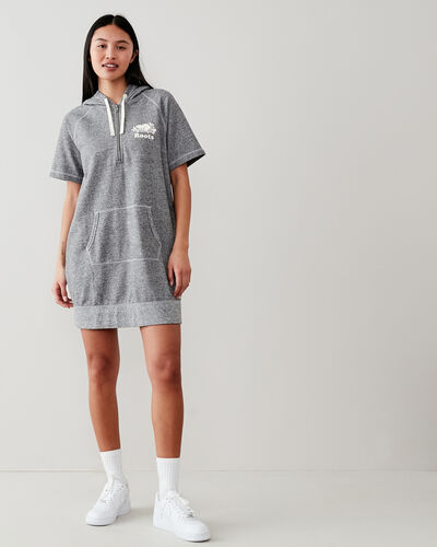 Roots-New For This Month Women-Dockside Hooded Dress-Salt & Pepper-A