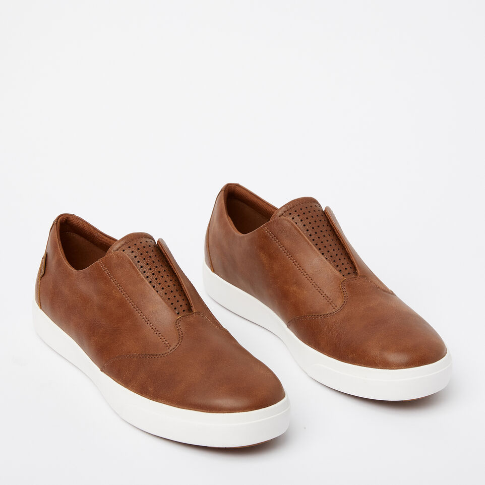 Roots-Sale Footwear-Mens Valley Slip On-Natural-B