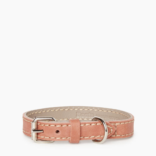 Roots-New For January Dog Accessories-Small Leather Dog Collar-Canyon Rose-A