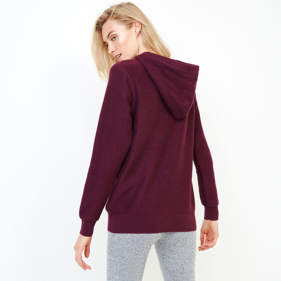 Roots-Women Categories-Maple Sweater Hoody-Pickled Beet Mix-D