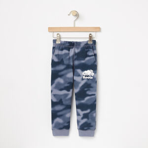 Roots-Kids Bottoms-Toddler Blurred Camo Slim Sweatpant-Flint Stone-A