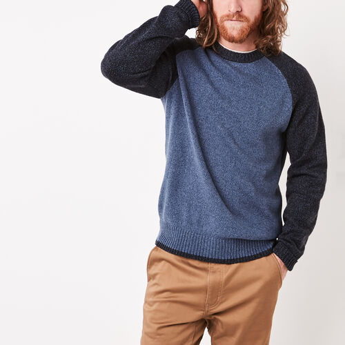 Roots-Sale Jackets & Sweaters-Montclair Raglan Crew Sweater-Dark Denim Mix-A