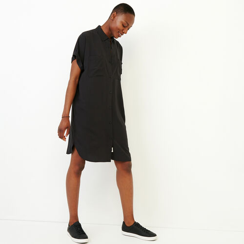 Roots-Women Dresses-Alder Flat Dress-Black-A