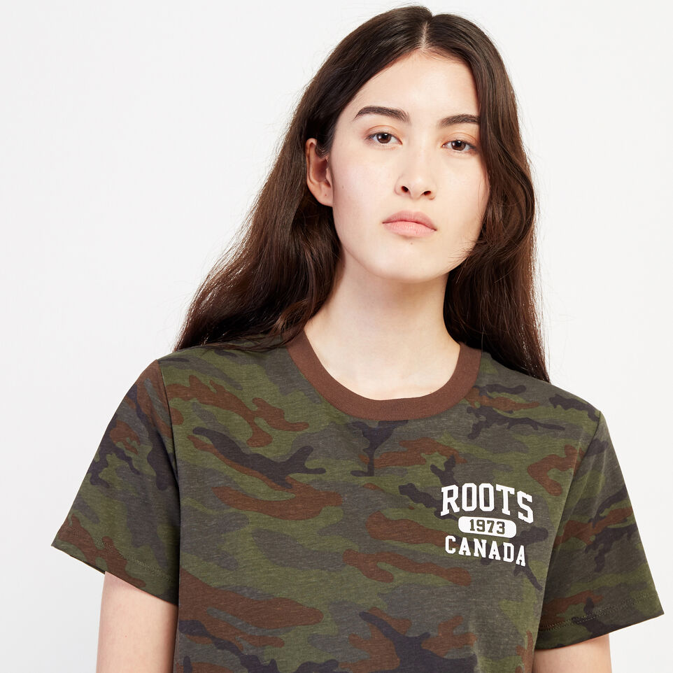 Roots-undefined-Womens Camo Lozenge T-shirt-undefined-E