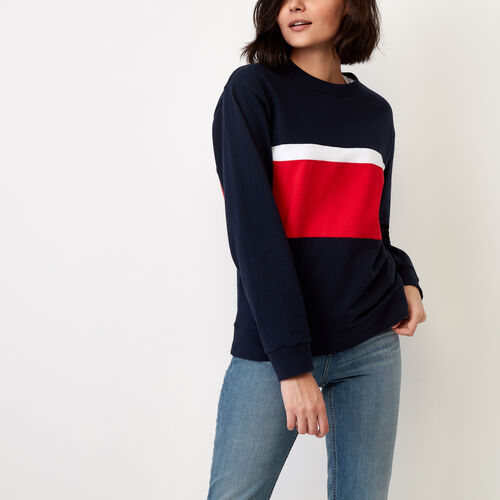 Roots-Women Tops-Sable Pullover-Navy Blazer-A