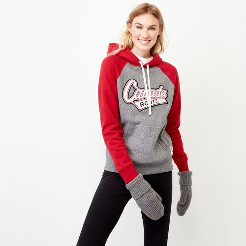 Roots-Women Our Favourite New Arrivals-Canada Kanga Hoody-Salt & Pepper-A