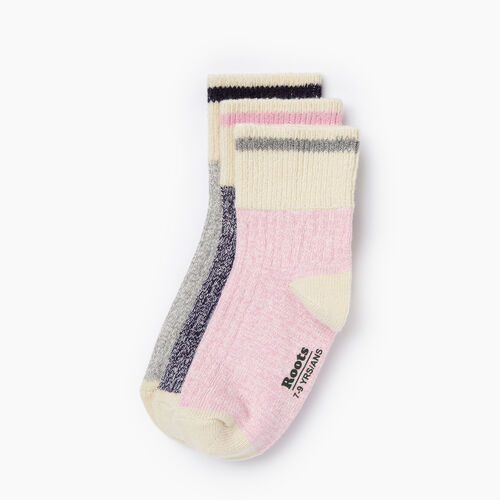 Roots-Kids Categories-Kids Cotton Cabin Ankle Sock 3 Pack-Pastel Lavender-A