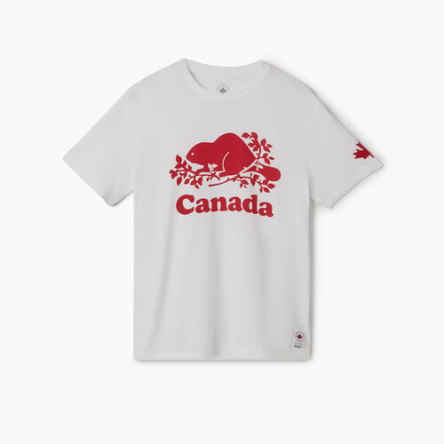 Roots-New For May Canada Collection By Roots™-Mens Cooper Canada T-shirt-White-A