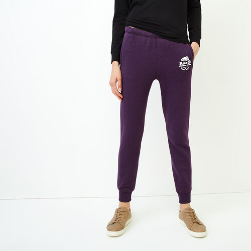 Roots-Women Sweatpants-Laurel Slim Cuff Sweatpant-Blackberry Mix-A